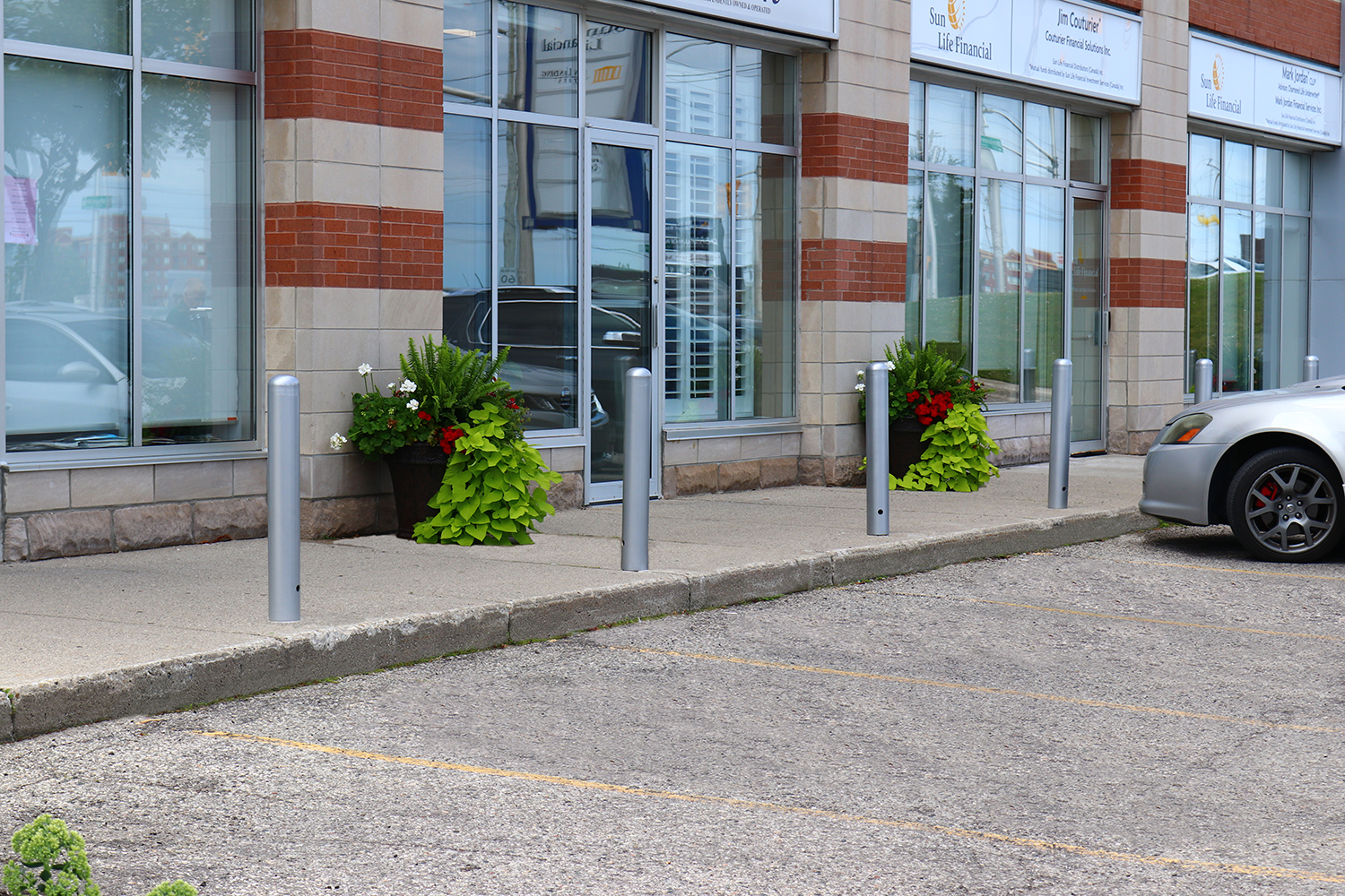 Bollards outside Sun Life Financial