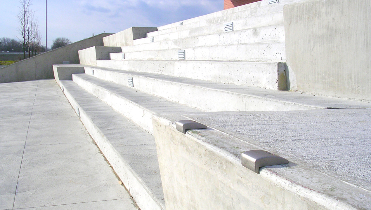 Small Metal Attachments on Stairs