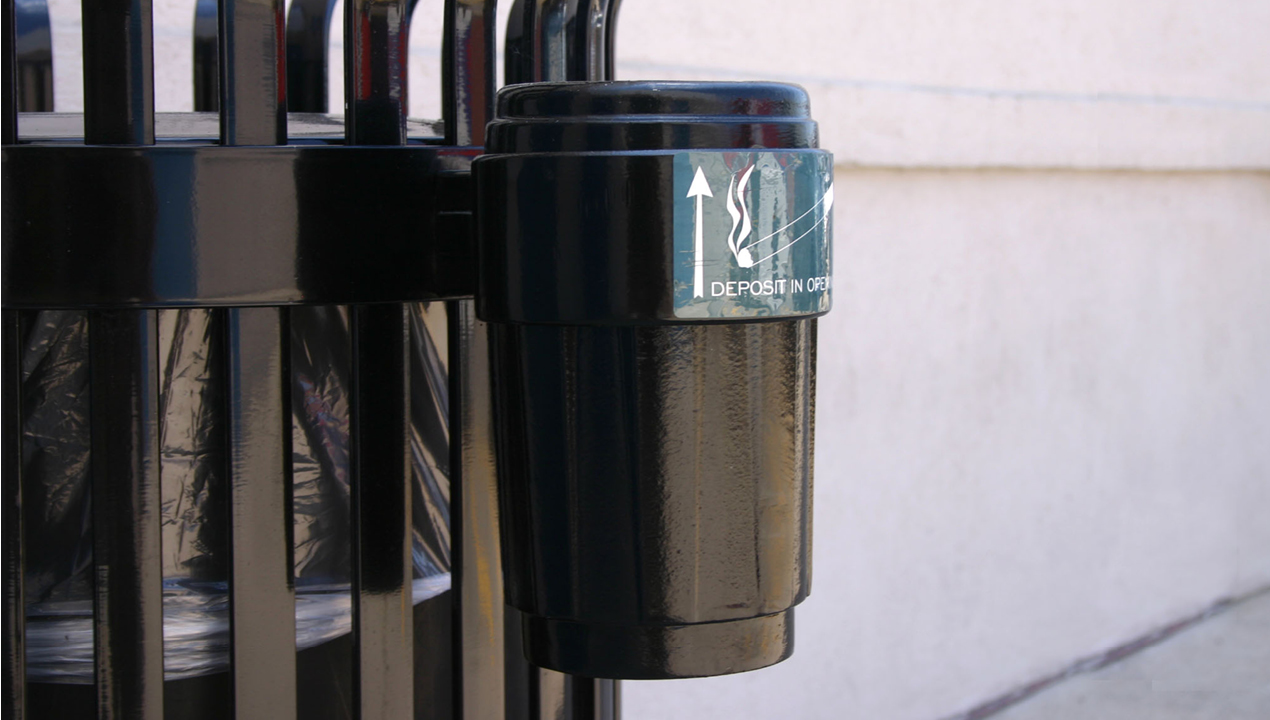 Small Black Side Mount Ash Receptacle