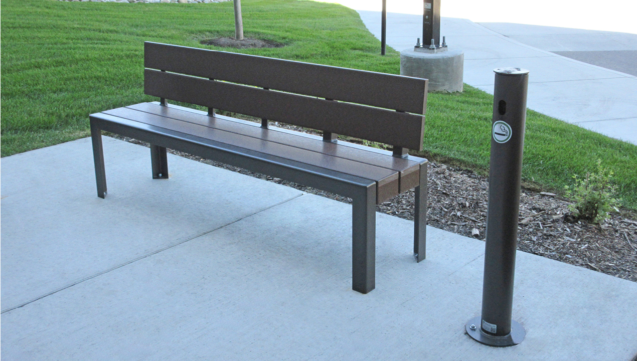 Bench and Ash Receptacle