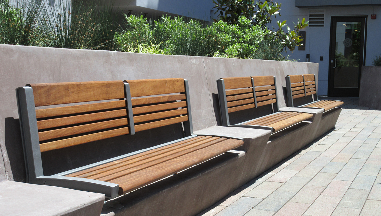 Mounted Backed Benches