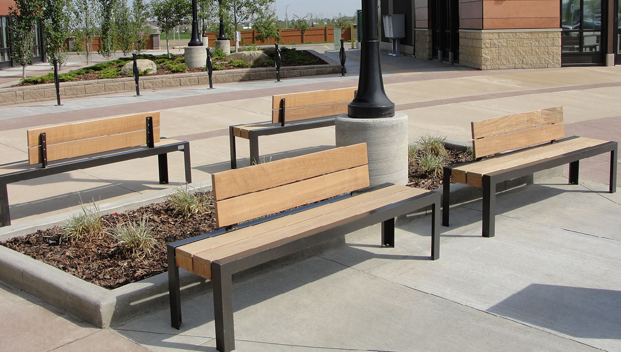 Backed Wood Benches