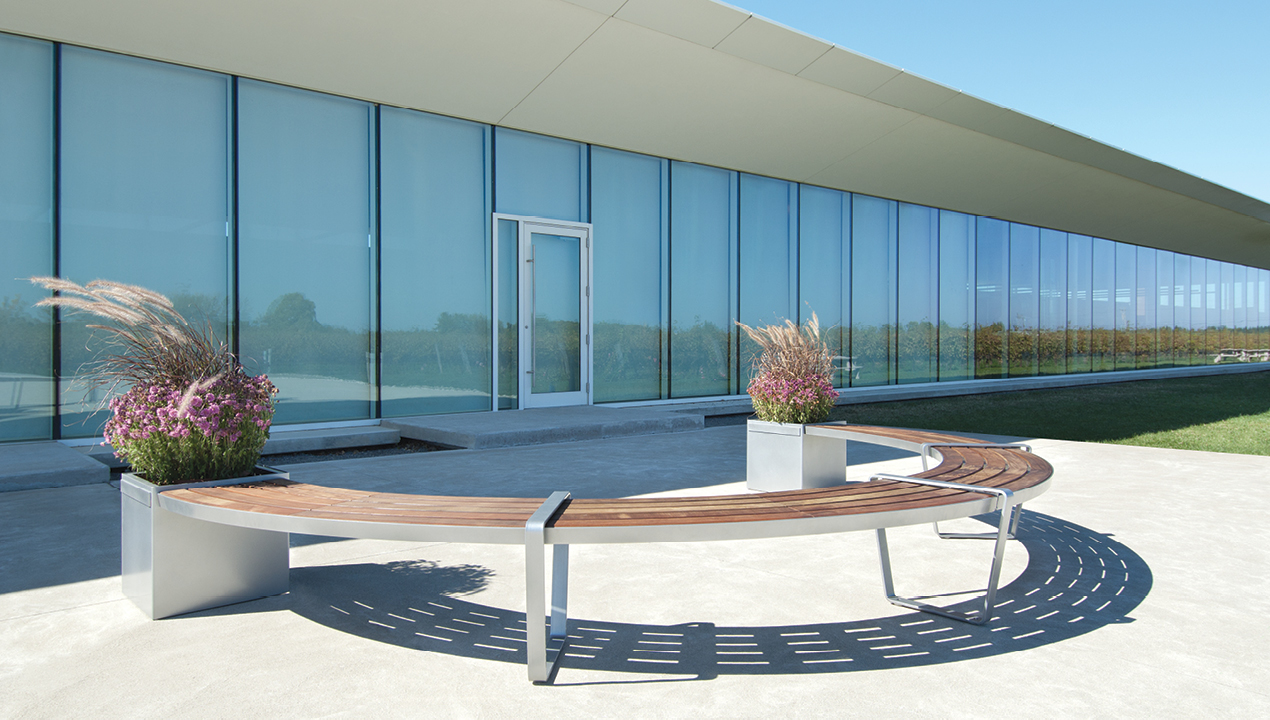 Curved Lexicon Bench