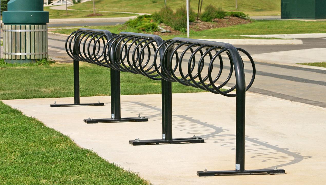 Three Black Multi Bike Racks