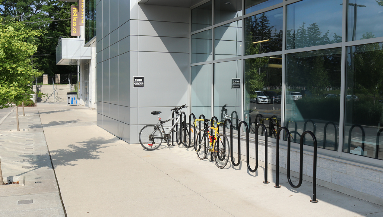 Bike Rack with two bikes and direct burial