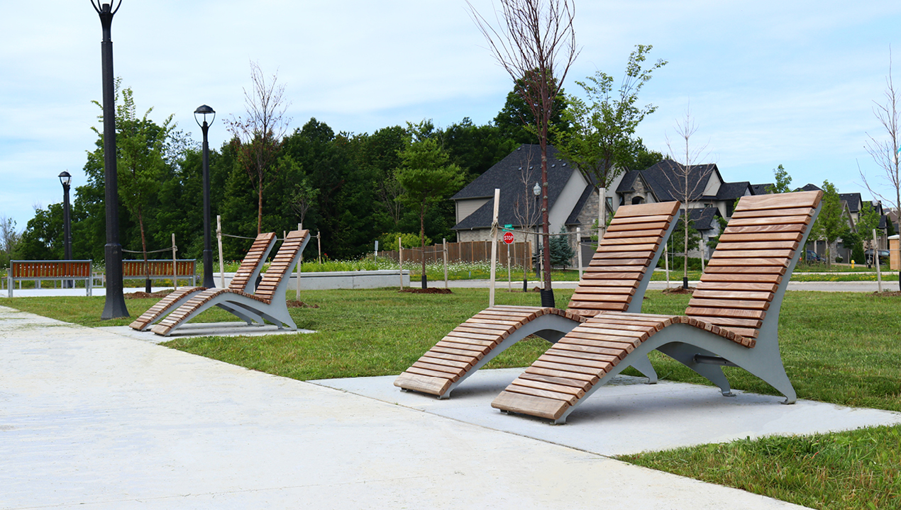 Chairs outside of residential area