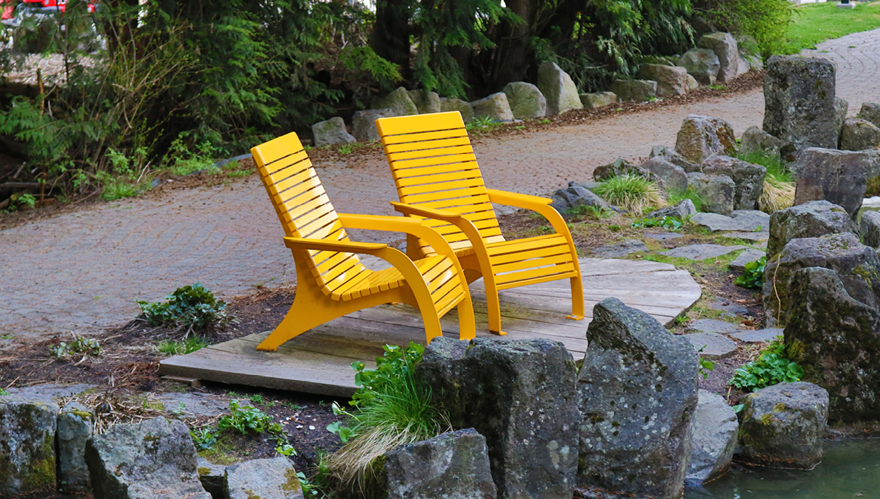 Yellow Chair Near River
