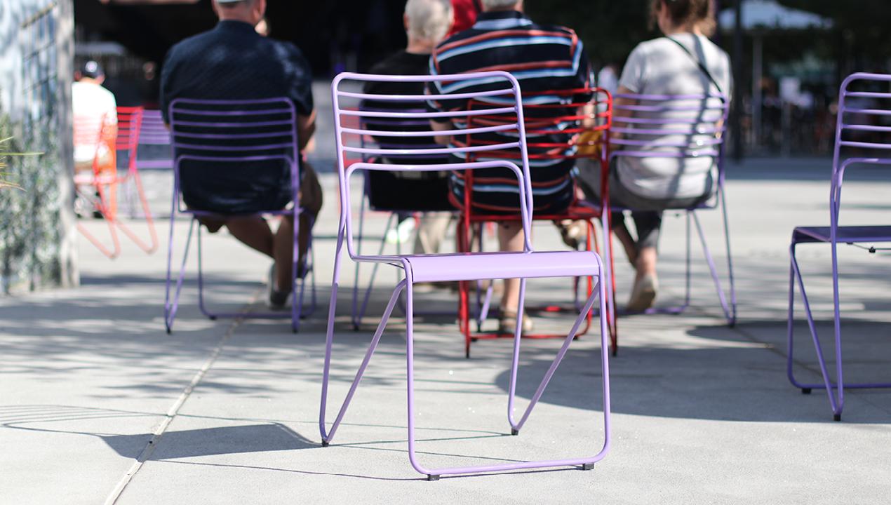 Purple Kontur Chair