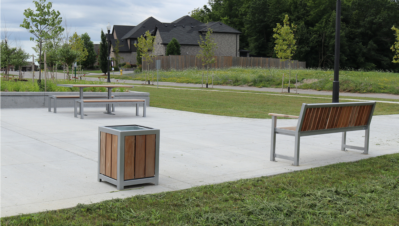 Table, Bench and Planter outside subdivision