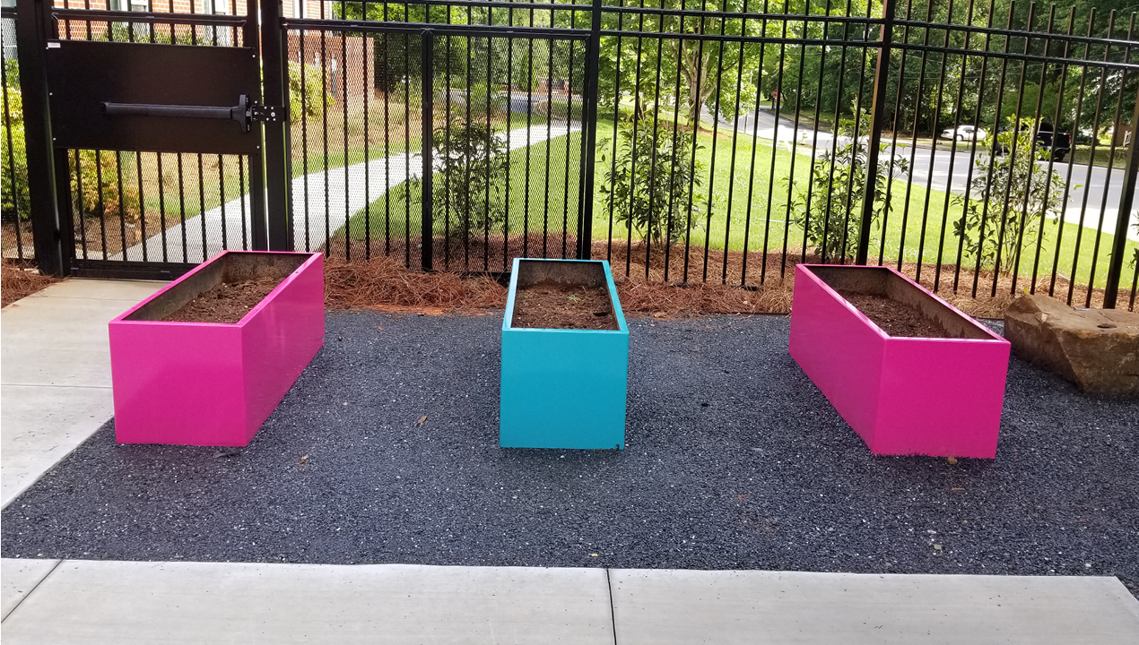 Pink and Blue Plant Holders