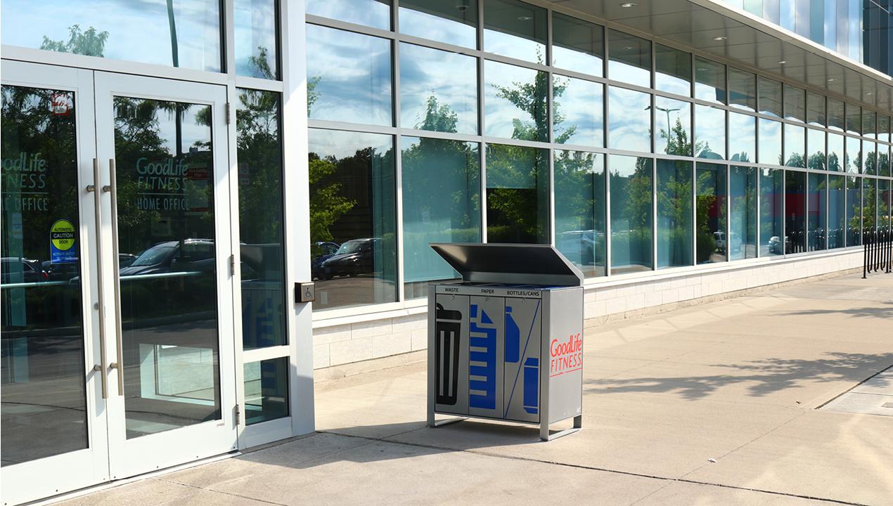 Paper, Garbage and Bottle Trash Unit