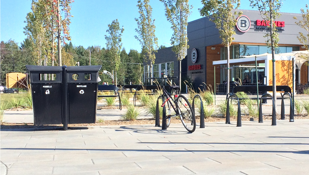 Trash Bin outside Building
