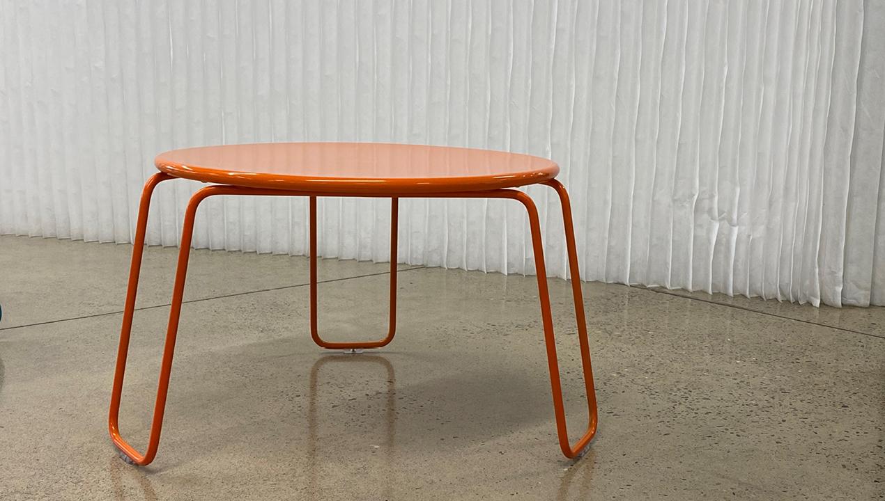 Orange Small Circular Lounge Table