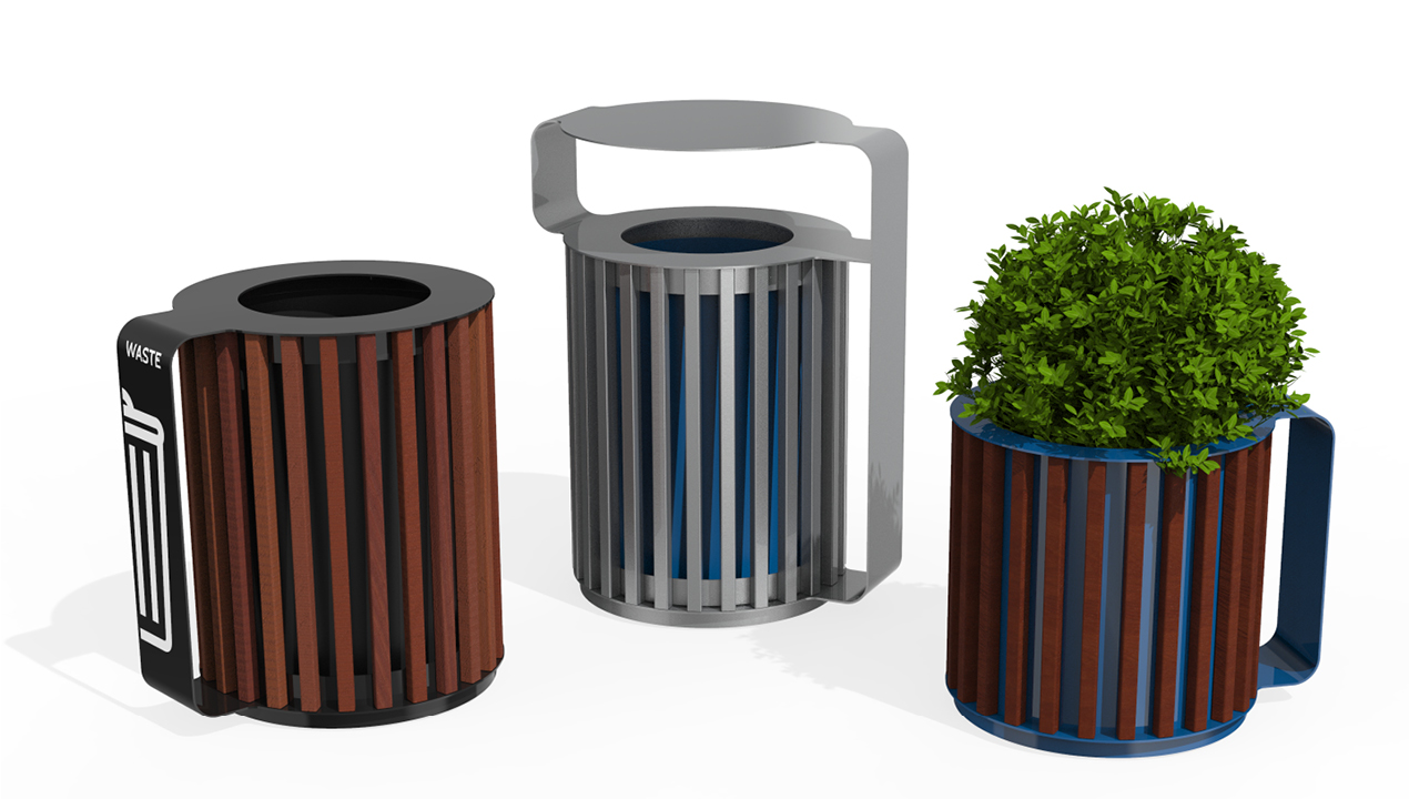 MUG Collection waste/recycle container, planter