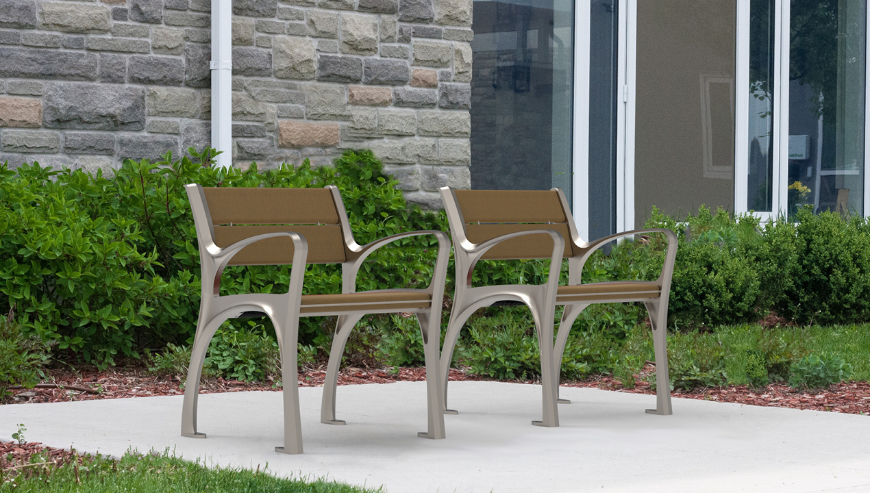 870 Chairs in Sandstone HDPC surrounded by gardens and stone building